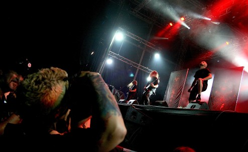 /w Meshuggah at MetalDays festival, 2013